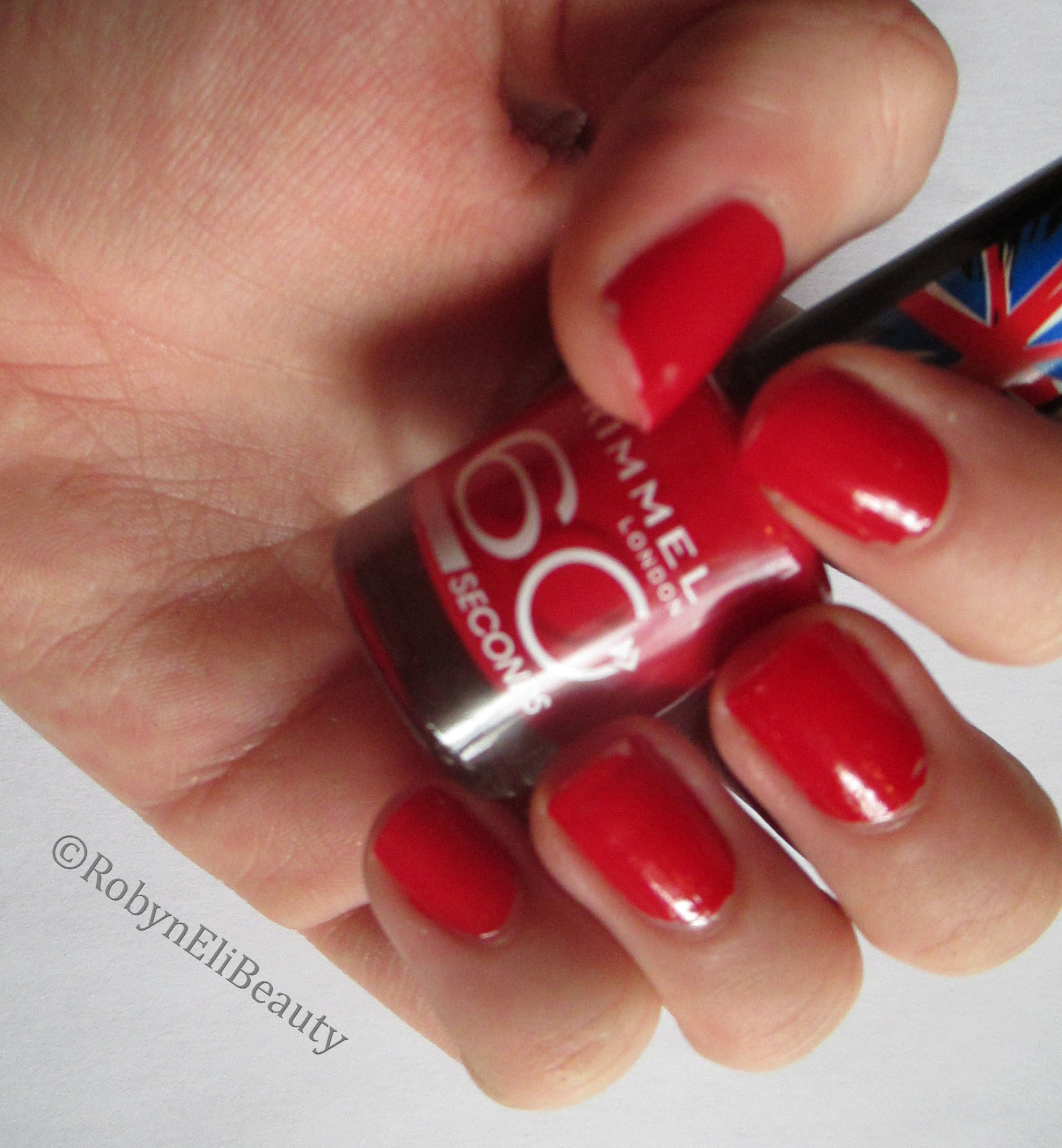Rimmel 60 Second Nail Polish Review: Red, Steady, Go   robyn eli beauty